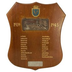 HMS Gurkha WW2 Battle Honours Board