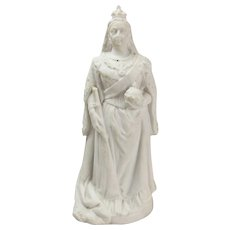 Parian Ware Figure of Queen Victoria After E.E. Geflowski