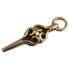 9ct Yellow Gold Pocket Watch Key Pendant/Fob