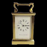Gilt Brass Carriage Clock By Swansea Goldsmiths