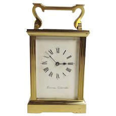 Gilt Brass Carriage Clock By Swansea Goldsmiths
