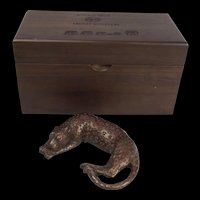 Donald Grieg Bronze Sculpture Of A Leopard Ltd Ed. 4/100 With Presentation Box