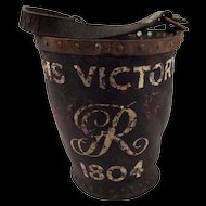 c1800 Hide Ships Water Bucket Painted As For HMS Victory