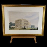A Framed Watercolour Of A Grand English Estate c1800
