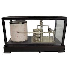 c1900 Short & Mason Cased Barograph