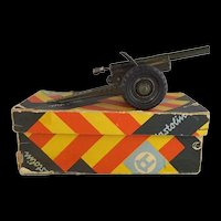 Hausser Elastolin Tinplate (Model Nr 711) Erbsenkanone (Pea Gun) Cannon With Original Box