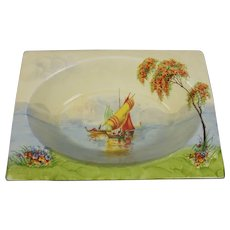 1930's Clarice Cliff Royal Staffordshire The Biarittz Paradise Pattern Dish