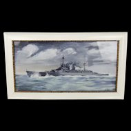 Oil Painting Of HMS Renown