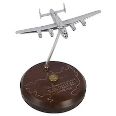 WW2 RAF Lancaster Bomber Model On Stand