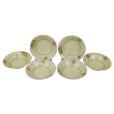 Set Of Six Clarice Cliff Corolla Pattern Bowls