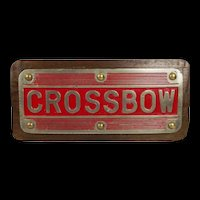 Treadplate From HMS Crossbow 1948 Royal Navy Destroyer
