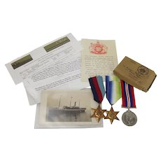 WW2 Medal Set – C.S. Read – SS Aguila Casualty