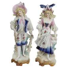 Pair Of 19th Century Pastoral Ceramic Figures