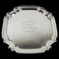 Small Silver Salver c1935