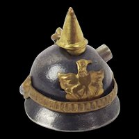WW1 Trench art Key Ring Picklehaube