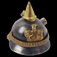 WW1 Trench art Key Ring Picklehaube