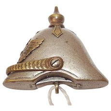 WW1 German Miniature Cigar-Cutter Pickelhaube Pendant