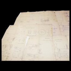 An Old Set of Engineering Plans for a Rocket Type Locomotive