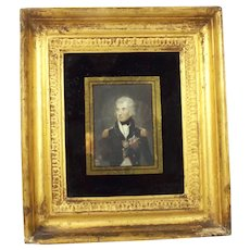 Framed Chromolithographic Portrait of Nelson (after Lemuel Francis Abbott)