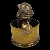 Bruce Bairnsfather Old Bill Trench Art Car Mascot
