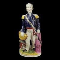 Mid 19th C. Staffordshire Figurine Statue Of General Napier