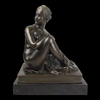 Bronze Figure Of Reclining Nude – Isabelle