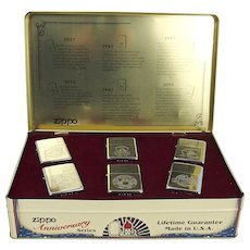 Zippo Lighters 60th Anniversary Lighter Collection Set