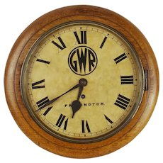 Great Western Railway Single Fusee Wall Clock - Paddington