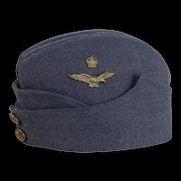 WW2 British Royal Air Force Warrant Officer's Field Service Side Cap