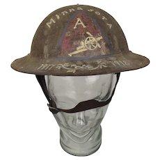 WW1 American Artillery Brodie Helmet