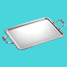 Large Christofle Silver Plated Serving Tray