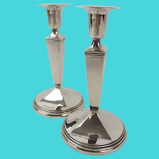 Pair of Small Swedish 830 Silver Candlesticks c1979
