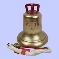 HMS Pluto J446 Bronze Ships Bell 1945