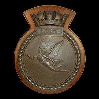 HMS Fairy (J403) Bronze Bridge Badge c1944