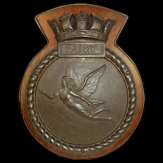 HMS Fairy (J403) Bronze Bridge Badge c1944