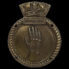 HMS Indomitable (92) Bronze Ships Badge
