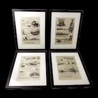 """William Lionel Wyllie - """"Our Fathers"""" (Series of 4 Framed Etchings)"""