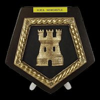 Mounted Ships Badge HMS Newcastle (C76) 1936