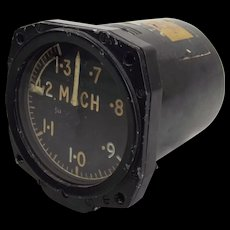 Machmeter From De Havilland Sea Vixen Aircraft Fighter