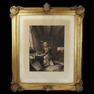 Framed Print - Nelson At Prayer, On Going Into Battle At Trafalgar c1850's