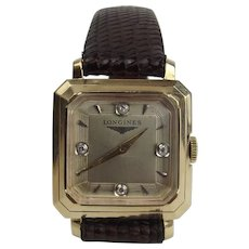 14ct Yellow Gold & Diamond Longines Wristwatch