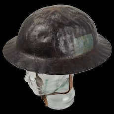 WW1 1st Pattern 4th Canadian Division Brodie Helmet c1917