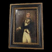 Circa 1800's Oil On Board Portrait Of Lord Nelson After John Rising