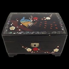 Japanese Lacquer Musical Jewellery Box c1940's/50's