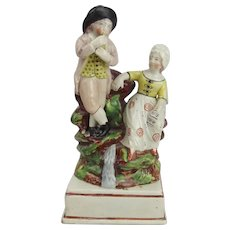 Early 19thC Pearlware Staffordshire Figural Group