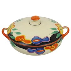 Clarice Cliff Bizarre Garland Pattern Tureen with Cover