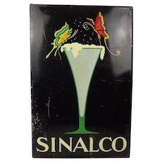 Enamel Advertising Sign For Sinalco C1940s