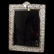 Silver Framed Free Standing Mirror London 1989