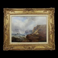 Framed Oil On Canvas 'The Shipwreck' by William West (1801-1861)