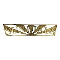Sundials Yacht Name Board